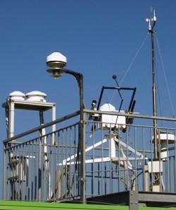 Piranometri stazione meteo a Roma